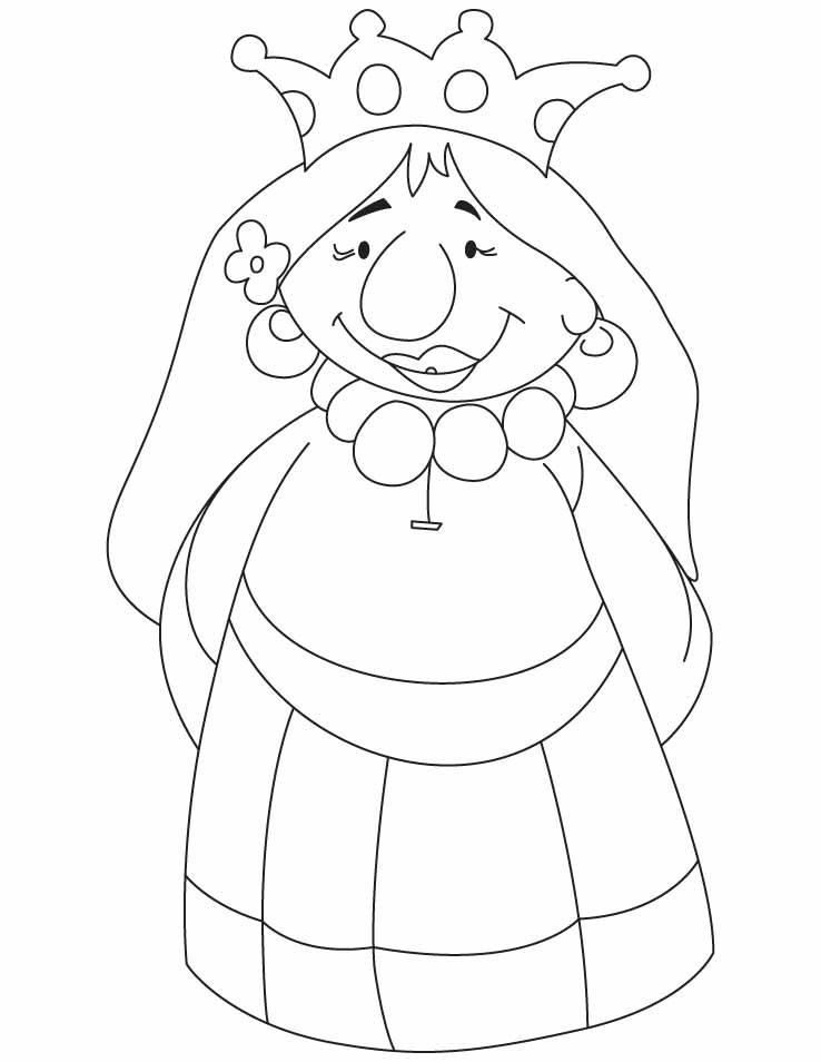 coloring page queen happy queen coloring pages download free happy queen page coloring queen