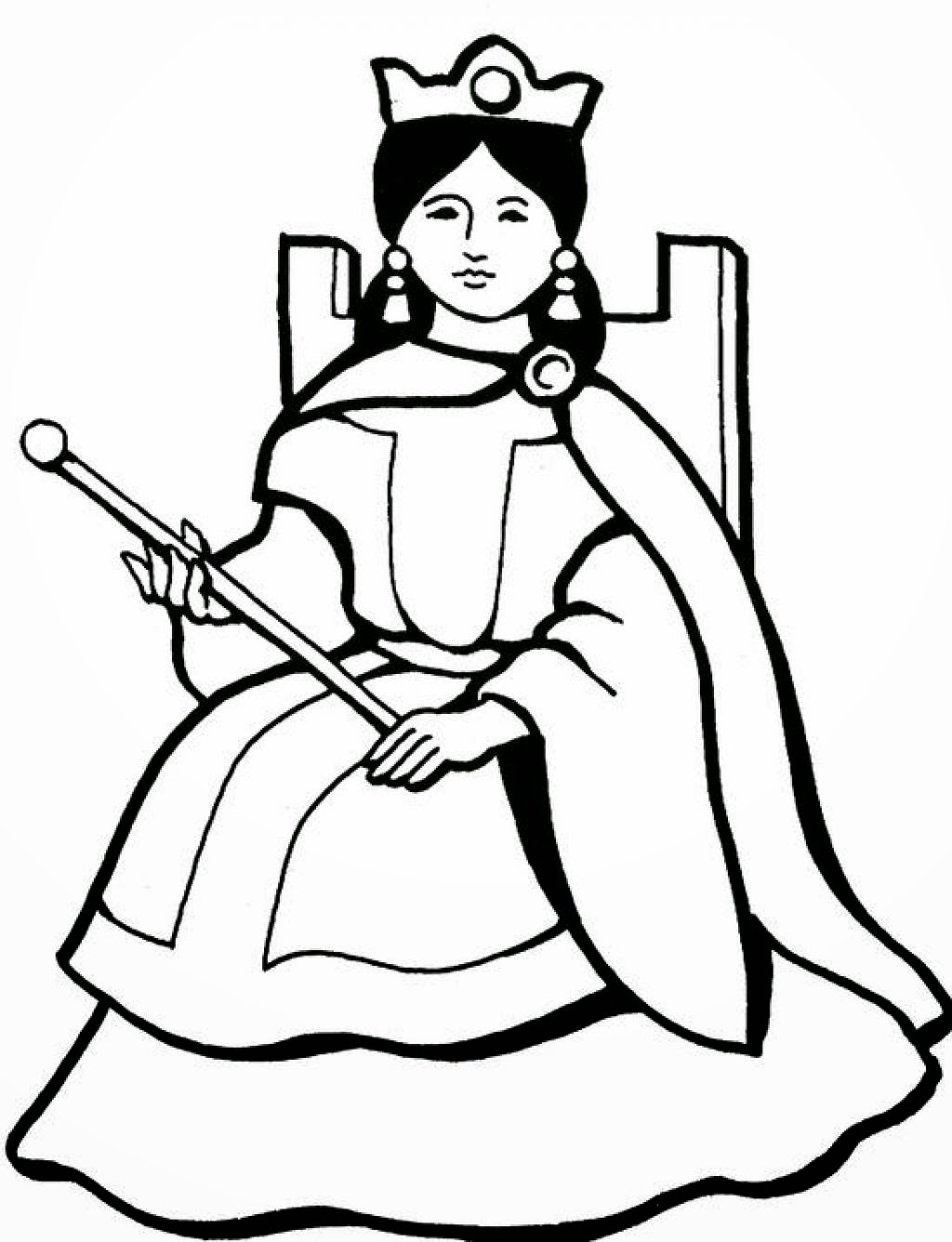coloring page queen queen coloring pages free download on clipartmag queen coloring page 1 1