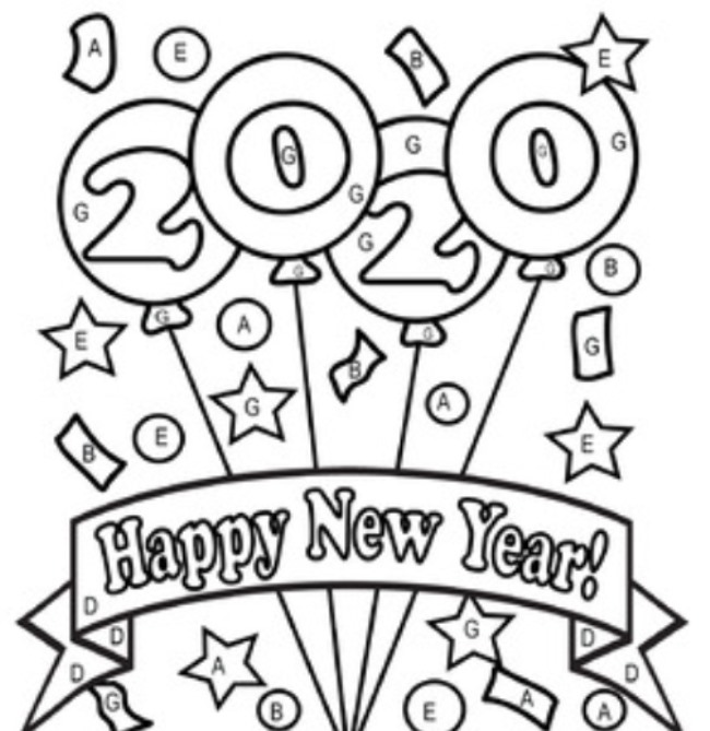 coloring pages 2020 2020 happy new year simple lines coloring pages printable pages 2020 coloring