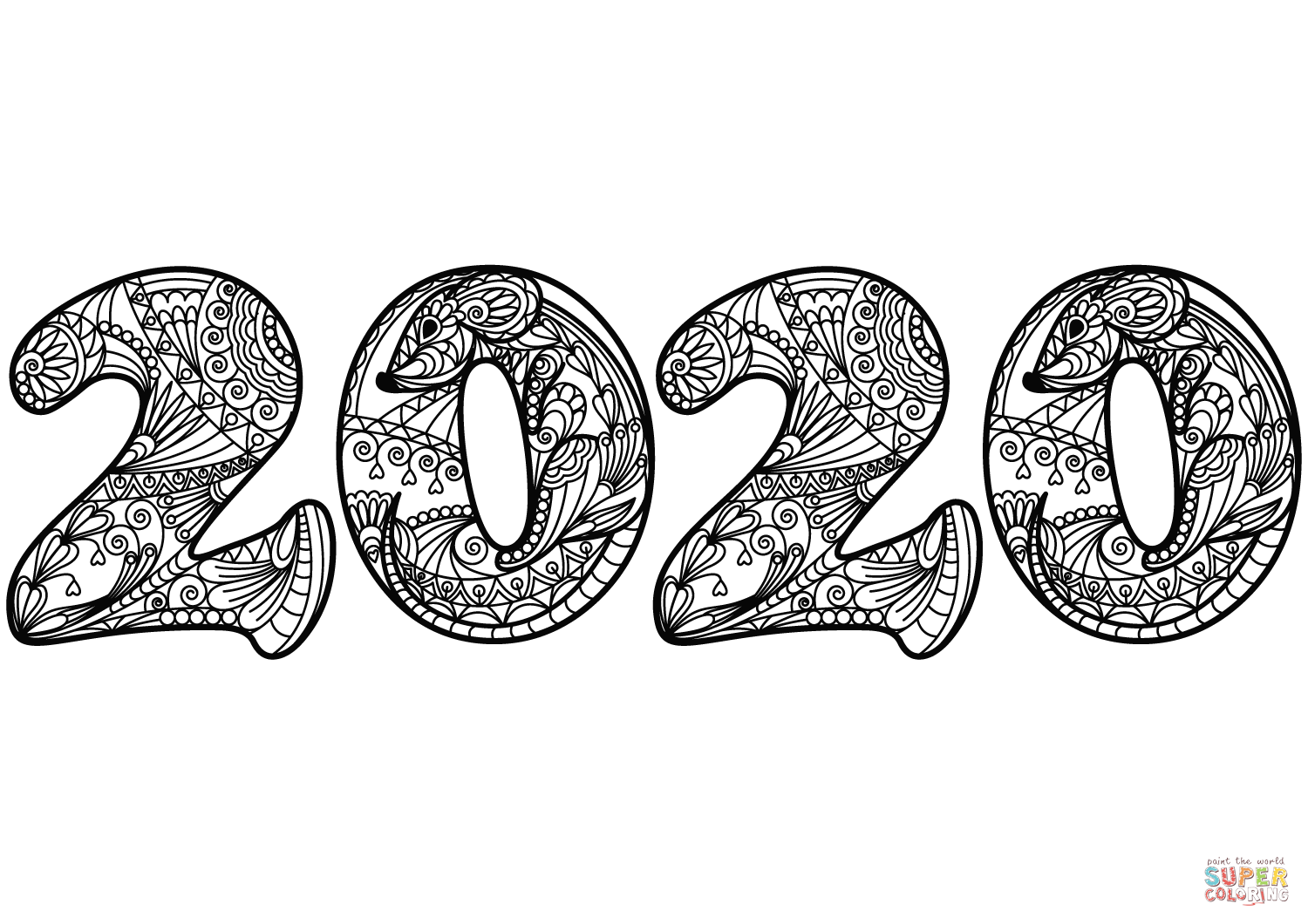 coloring pages 2020 2020 year of the metal rat page coloring pages printable 2020 coloring pages