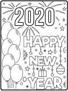 coloring pages 2020 happy new year 2020 coloring pages coloring home pages 2020 coloring