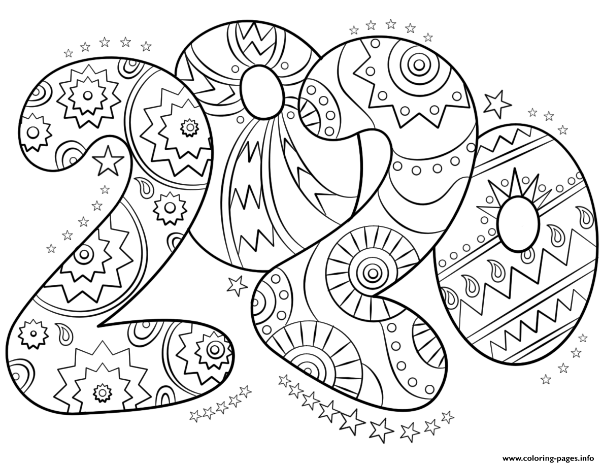 coloring pages 2020 happy new year 2020 coloring pages coloring home pages coloring 2020
