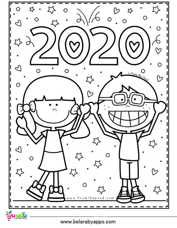 coloring pages 2020 new year 2020 coloring pages to download and print for free pages coloring 2020