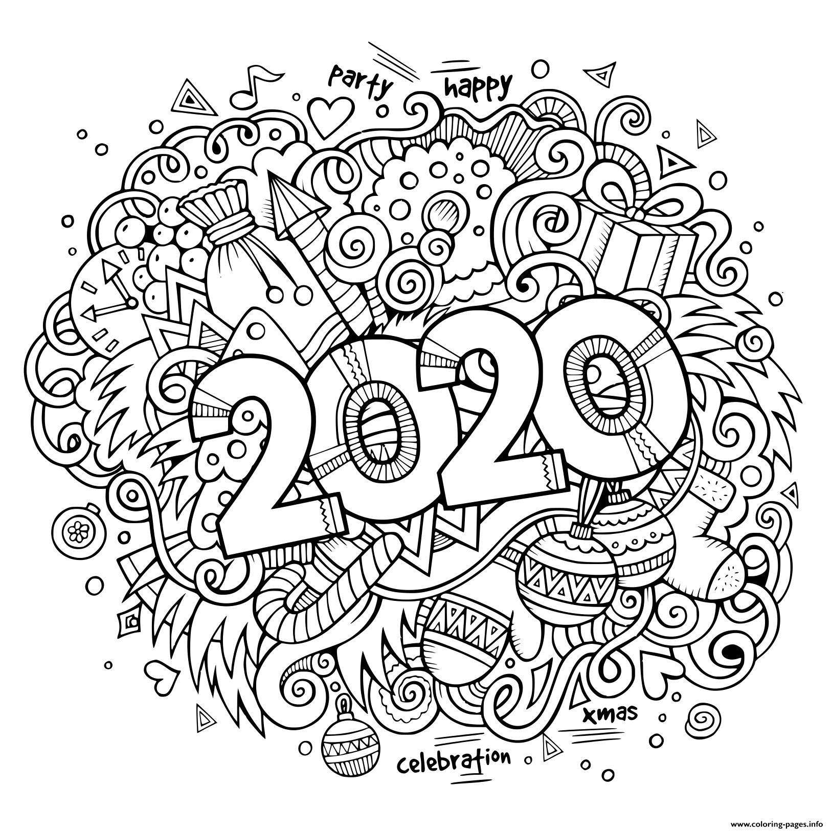 coloring pages 2020 new year 2020 inside floral frame adult coloring pages 2020 coloring pages