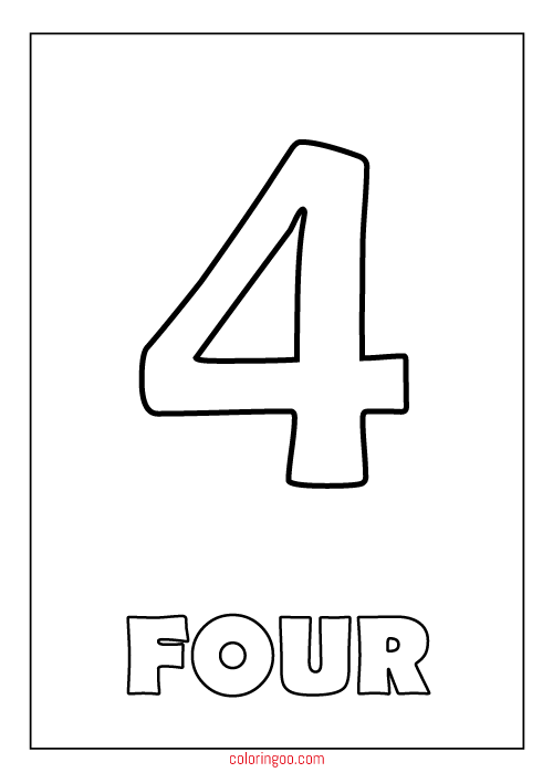 coloring pages 4 number 4 coloring page getcoloringpagescom coloring 4 pages