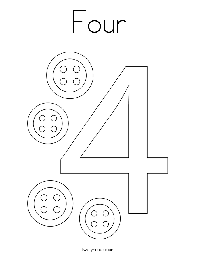 coloring pages 4 number coloring pages coloring pages pages coloring 4