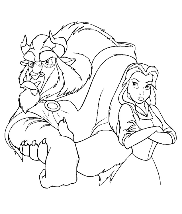 coloring pages beauty and the beast beauty and the beast coloring pages 3 disney coloring book beast coloring beauty the and pages
