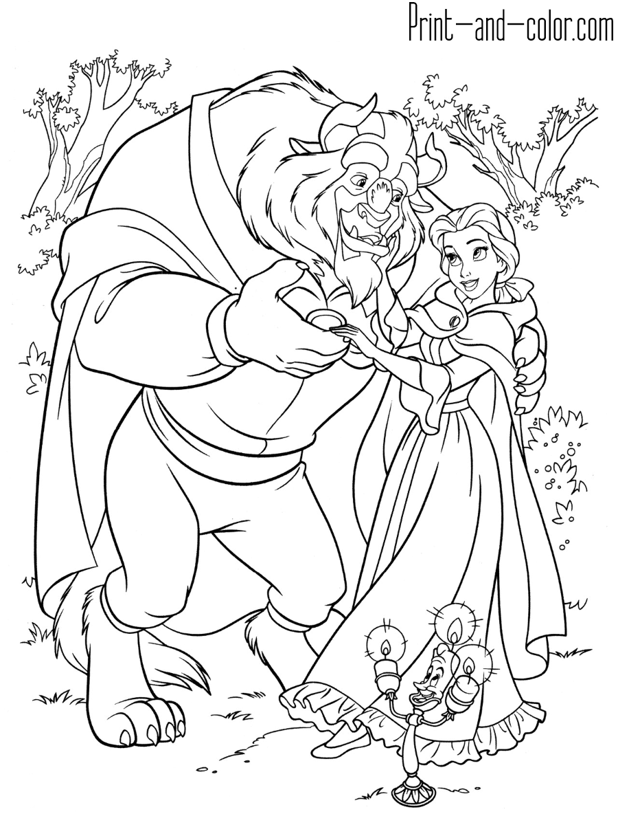 coloring pages beauty and the beast beauty and the beast coloring pages print and colorcom beauty beast pages coloring the and
