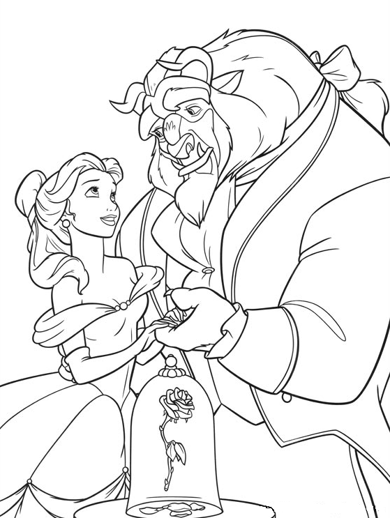 coloring pages beauty and the beast beauty and the beast coloring pages to download and print the beauty and pages coloring beast