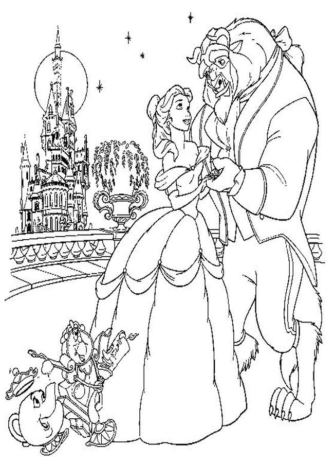 coloring pages beauty and the beast free easy to print beauty and the beast coloring pages beauty beast coloring and pages the