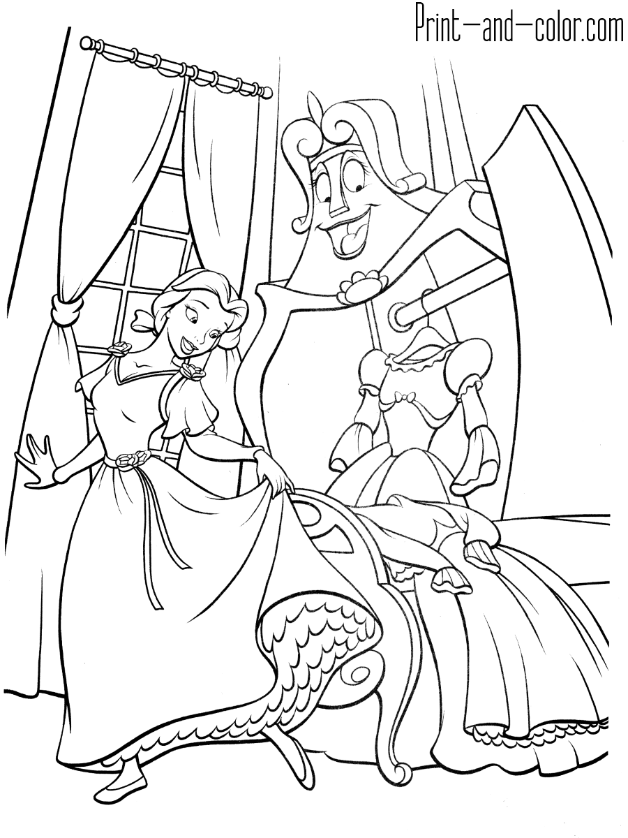 coloring pages beauty and the beast free printable beauty and the beast coloring pages for kids beauty pages coloring the and beast