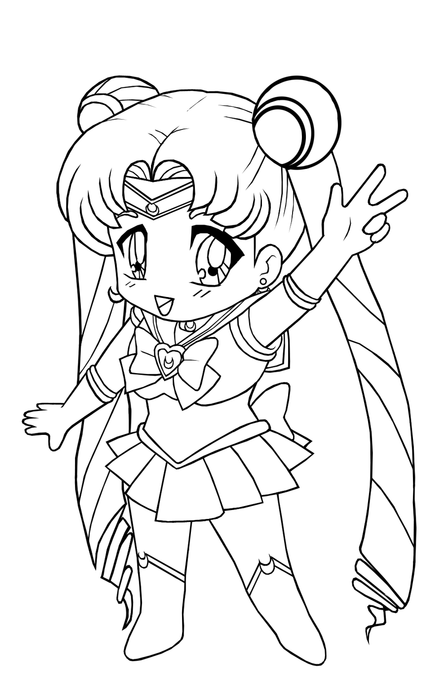 coloring pages chibi chibi anime girl drawing at getdrawings free download coloring chibi pages