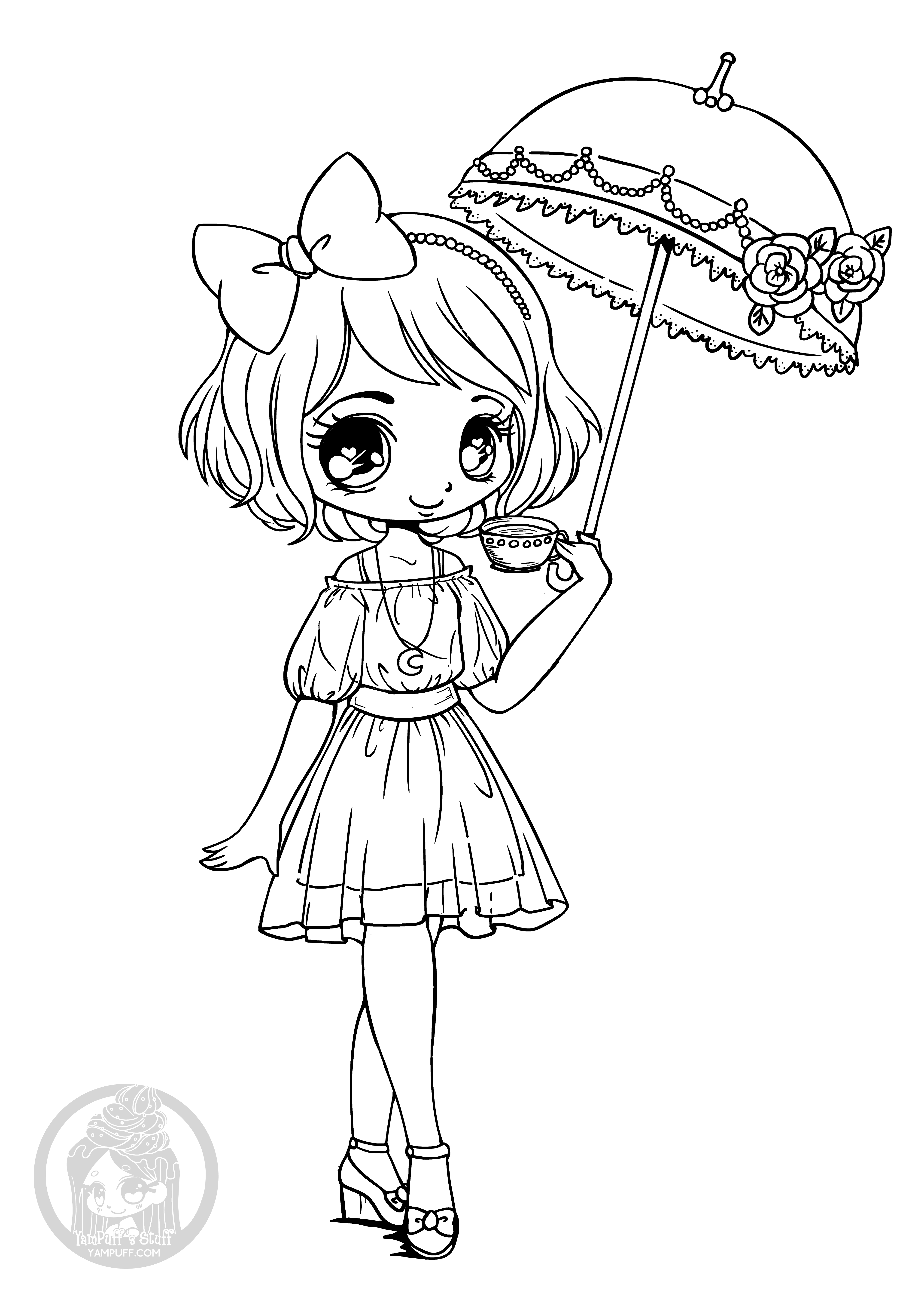 coloring pages chibi get this easy printable chibi coloring pages for children coloring chibi pages