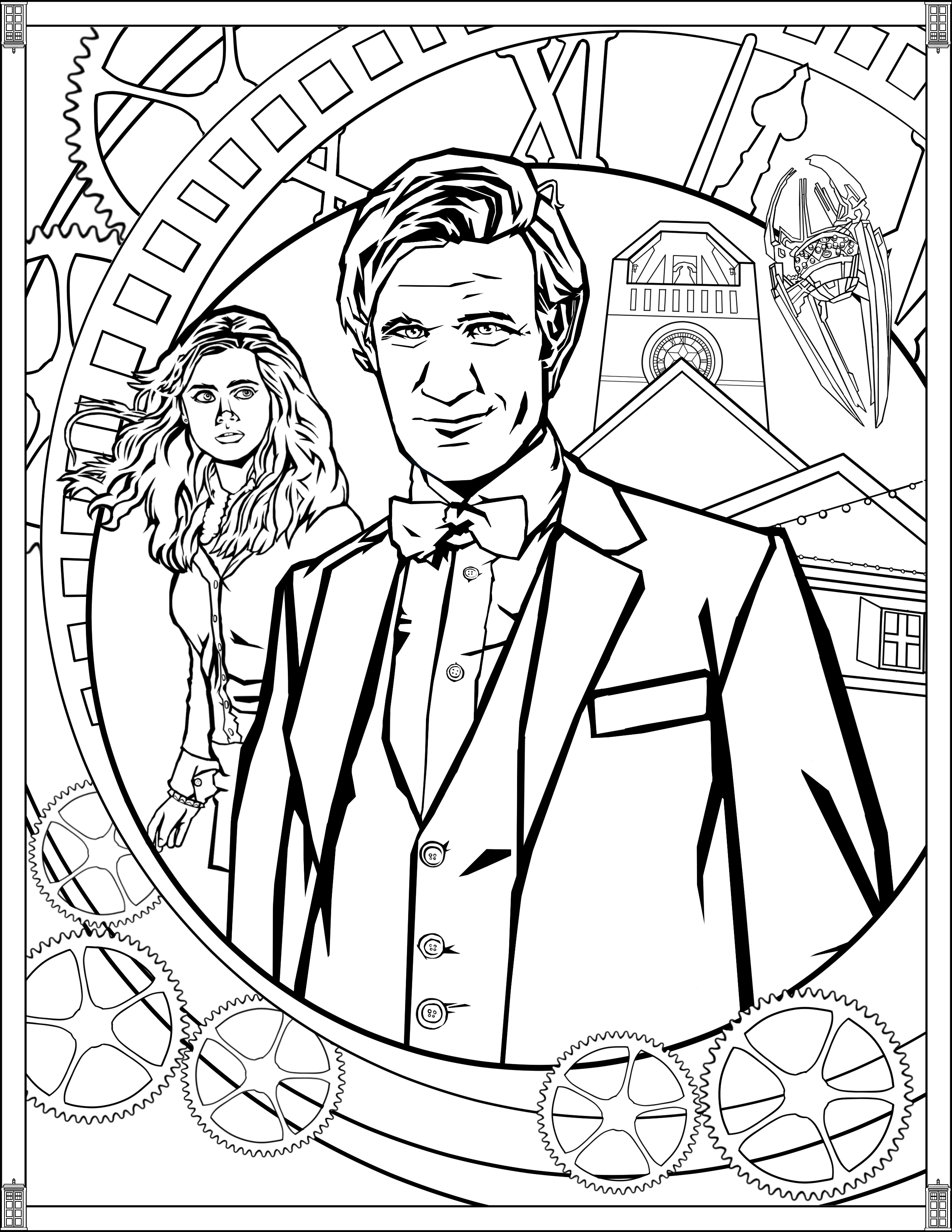 coloring pages doctor who doctor who wibbly wobbly timey wimey coloring pages coloring who doctor pages