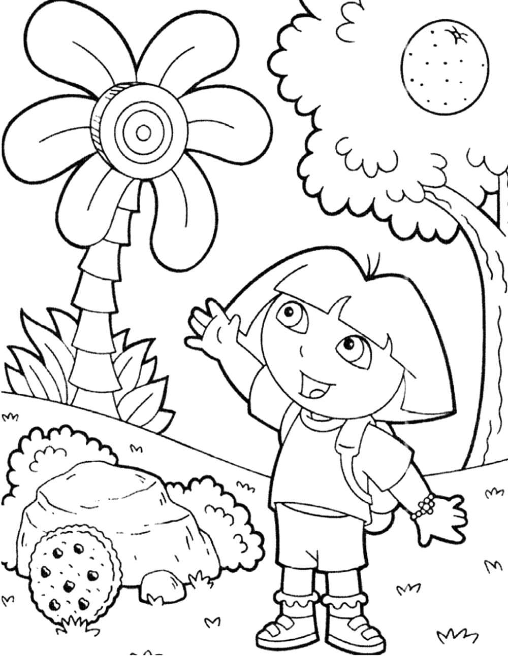 coloring pages dora the explorer print download dora coloring pages to learn new things pages explorer the coloring dora