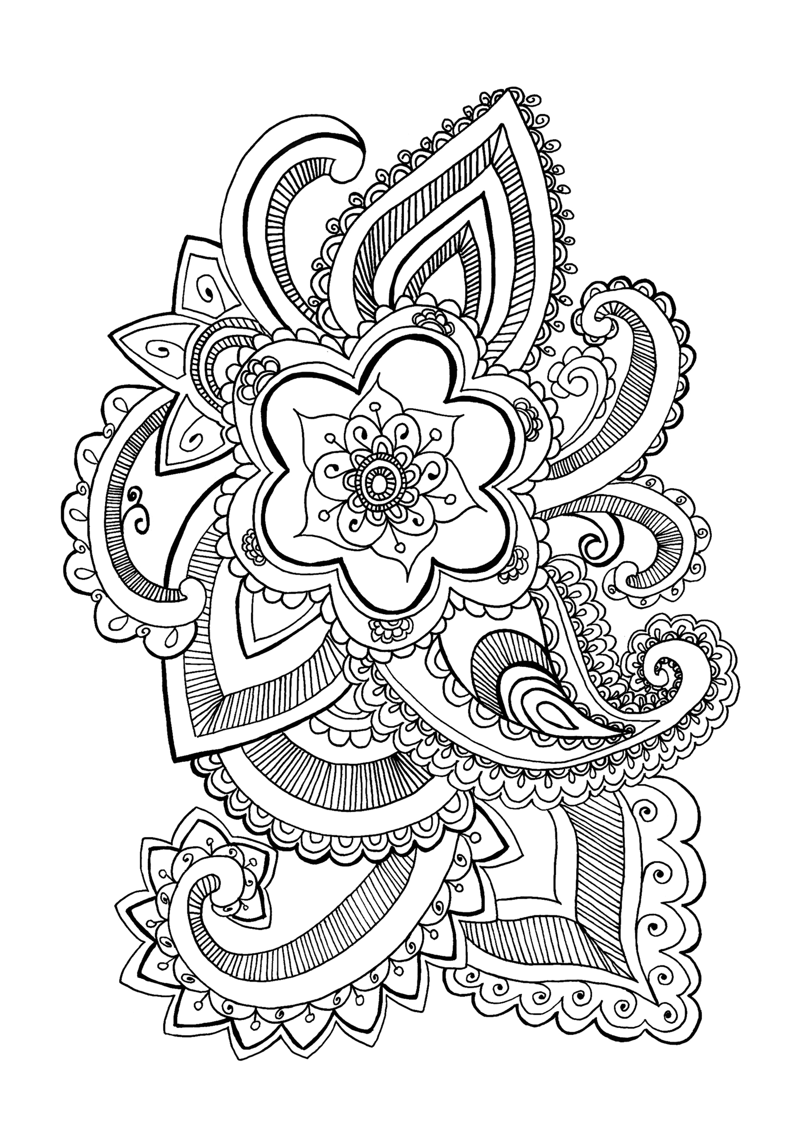 coloring pages for adults to print flowers free printable floral coloring page ausdruckbare adults coloring to print for pages flowers