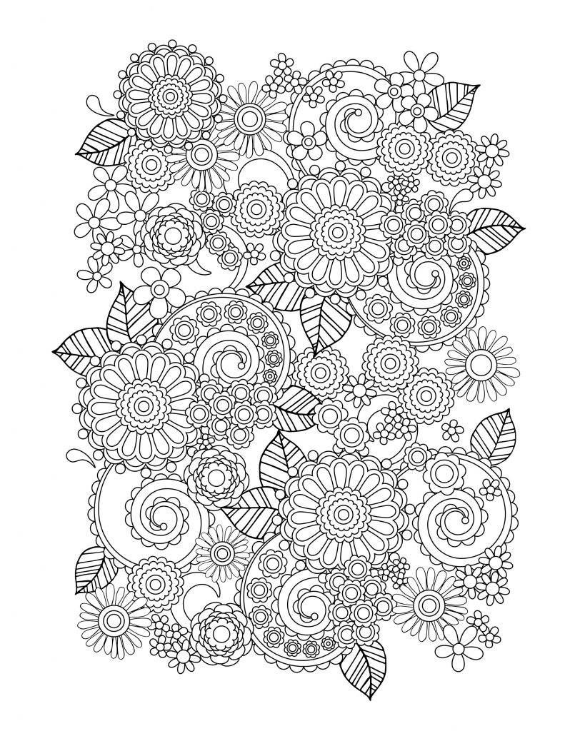 coloring pages for adults to print flowers free printable flower coloring pages for kids best pages coloring to flowers print for adults