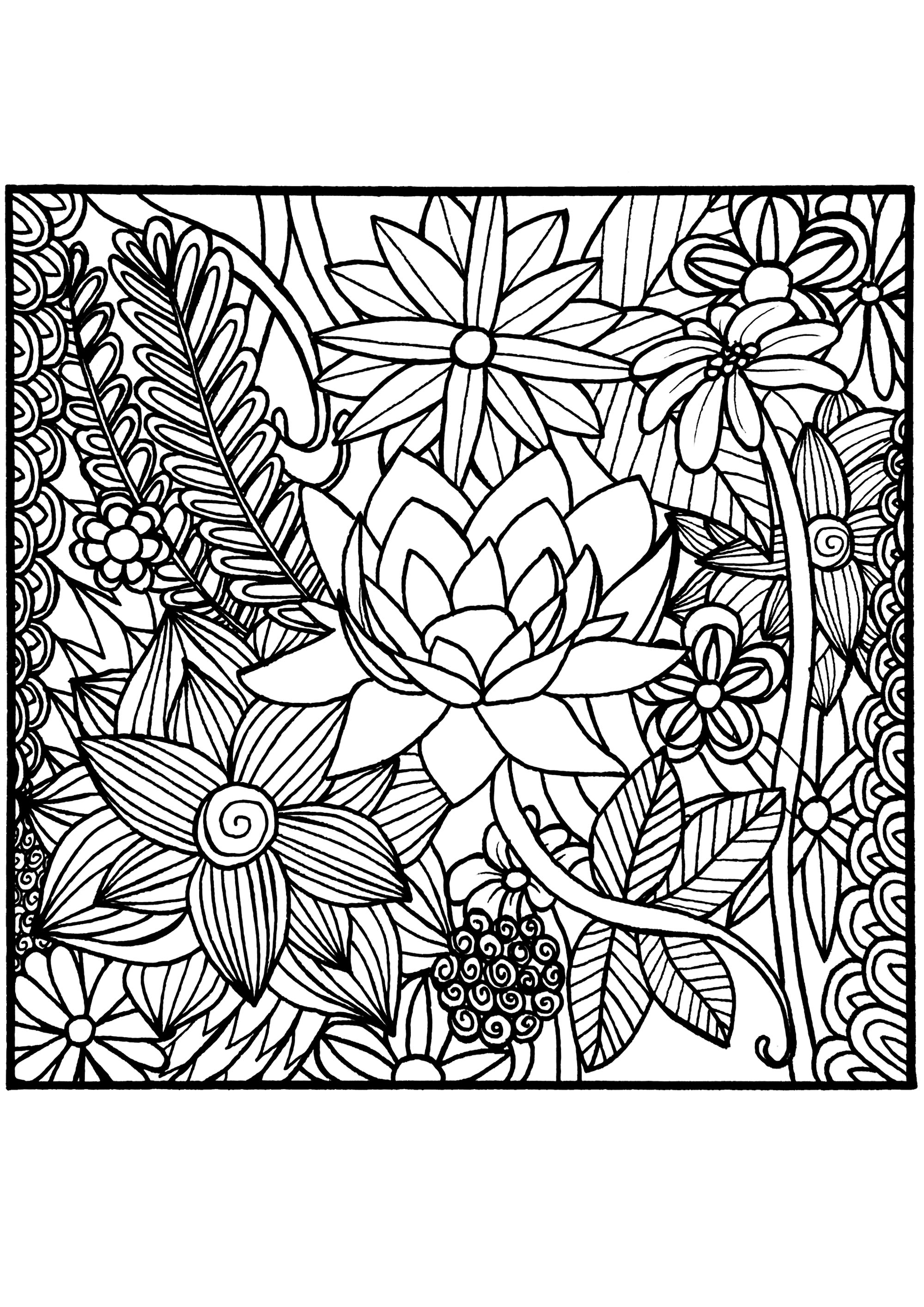 coloring pages for adults to print flowers free printable flower coloring pages for kids best print pages flowers for to adults coloring