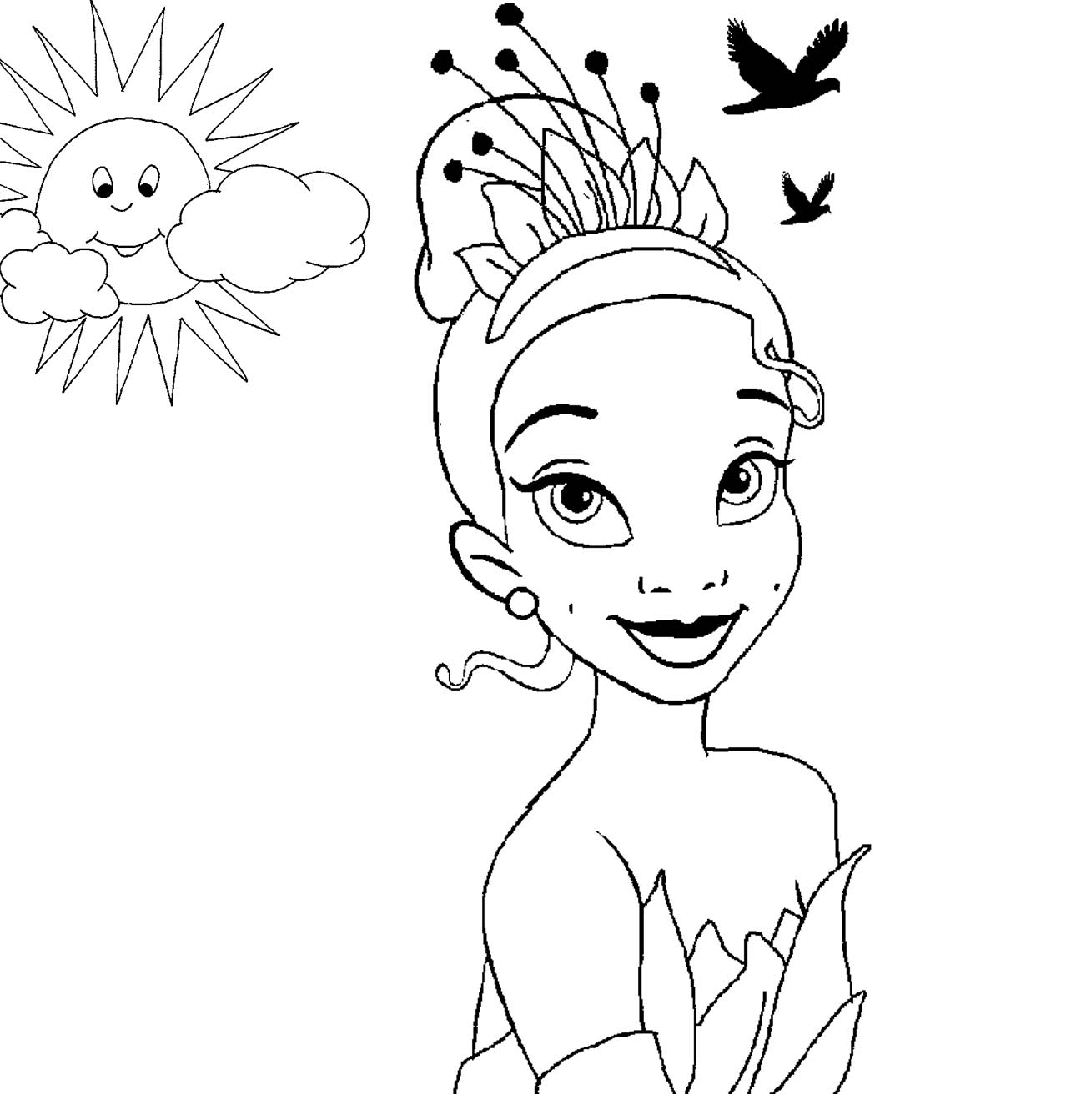 coloring pages for girls disney disney princess tiana coloring pages to girls disney for pages girls coloring