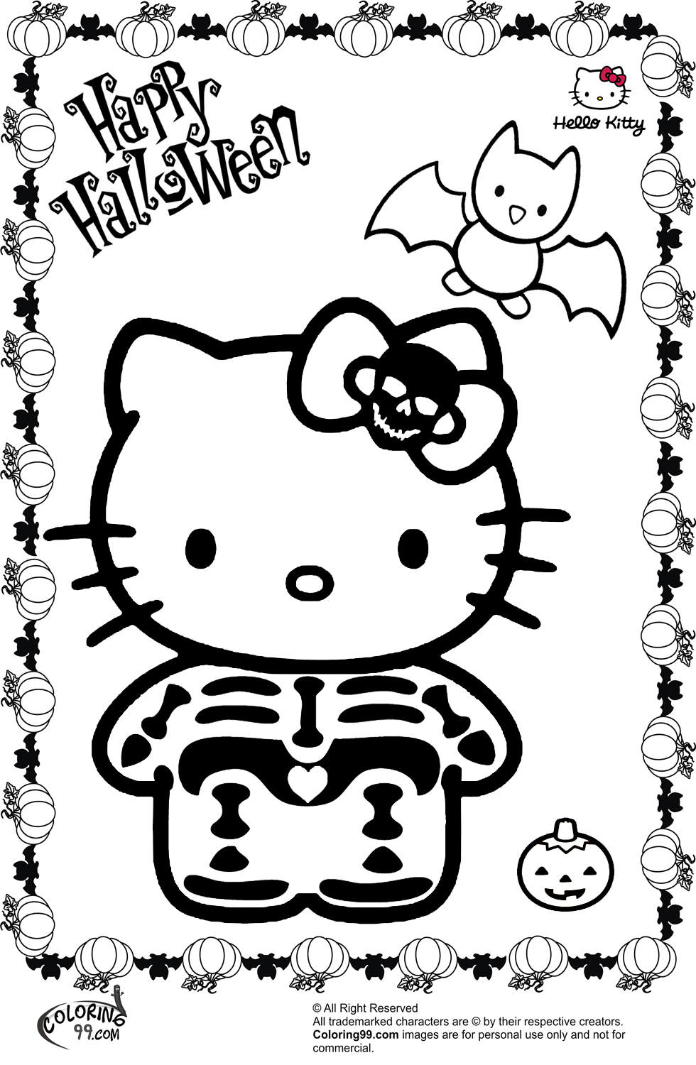 coloring pages halloween hello kitty halloween coloring pages team colors coloring pages halloween