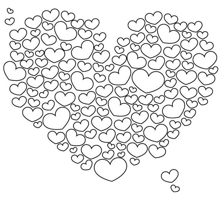 coloring pages heart shape free printable heart templates diy 100 ideas coloring pages heart shape