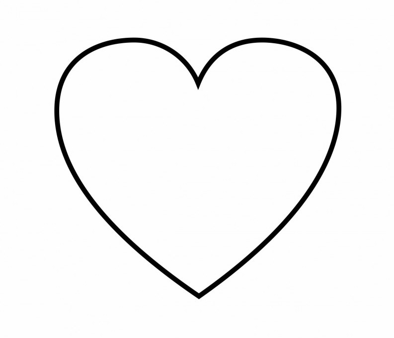 coloring pages heart shape printable heart shape clipart best pages shape coloring heart