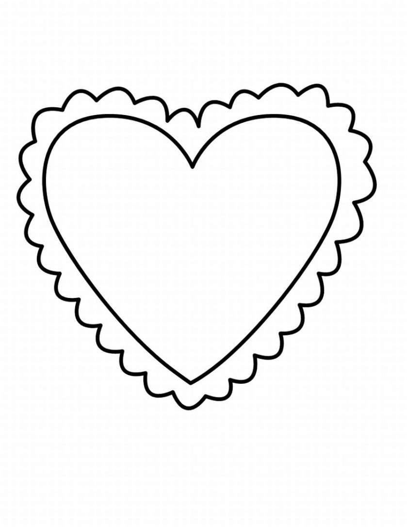 coloring pages heart shape small heart outline clipart best heart pages shape coloring