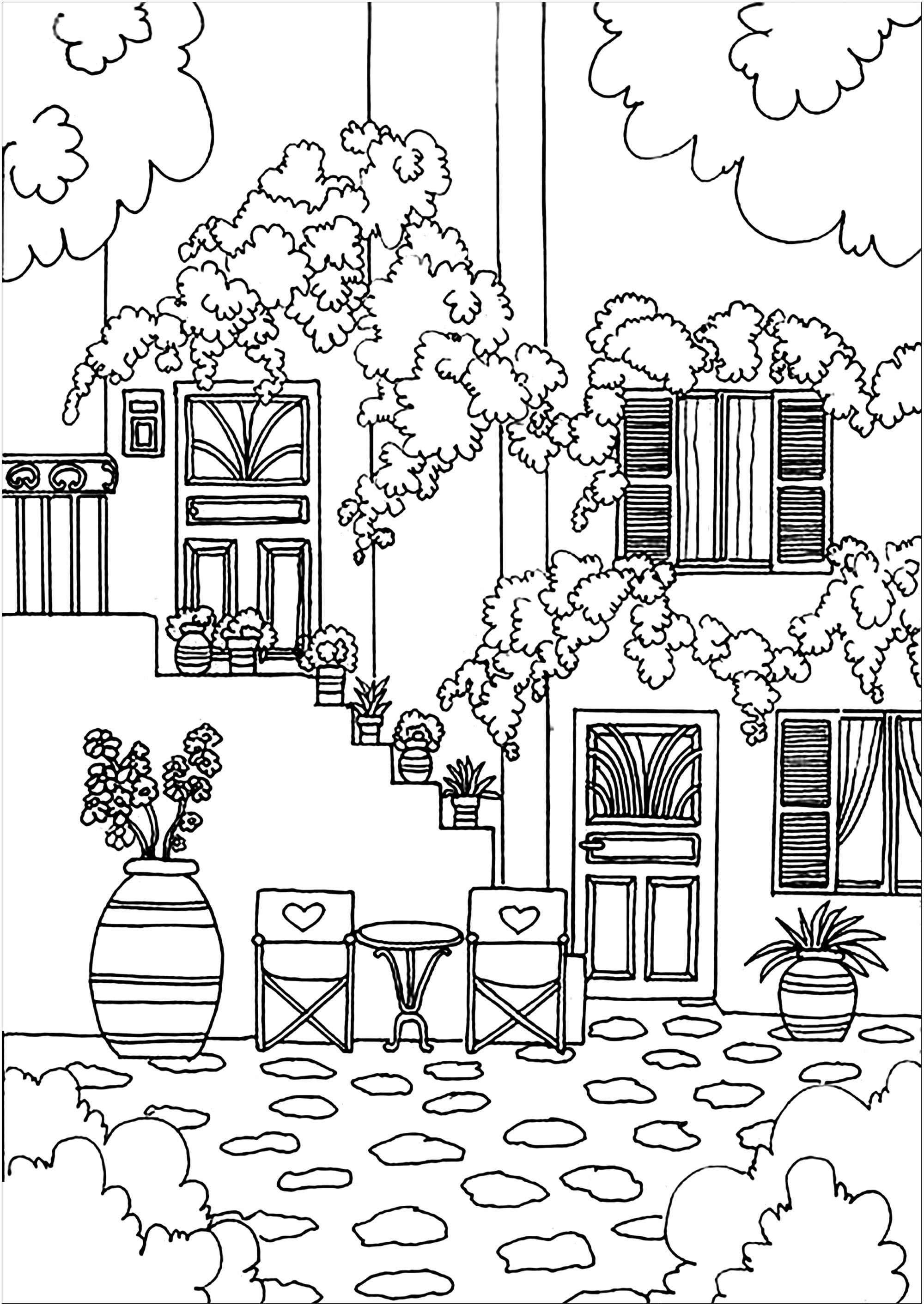 coloring pages house greek house architecture adult coloring pages pages house coloring
