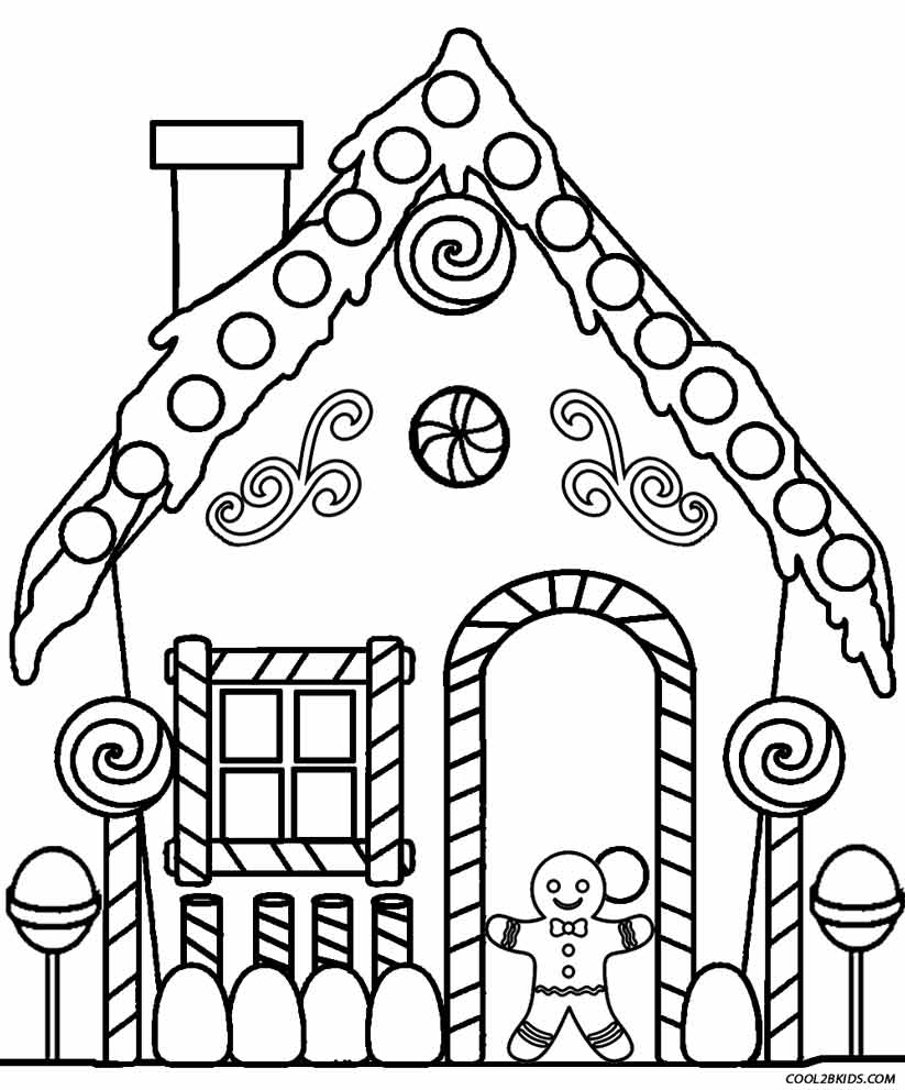 coloring pages house printable gingerbread house coloring pages for kids pages coloring house