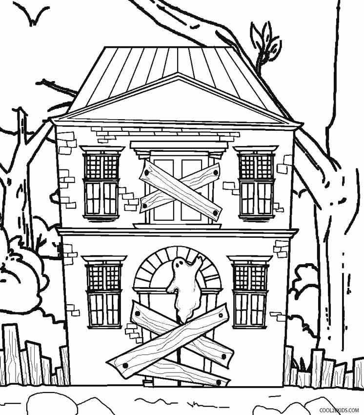 coloring pages house printable haunted house coloring pages for kids pages house coloring