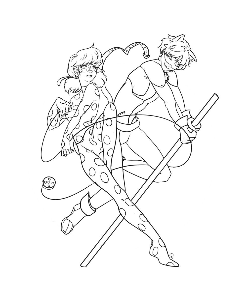coloring pages ladybug and cat noir ladybug and cat noir coloring pages sketch coloring page ladybug noir and coloring cat pages
