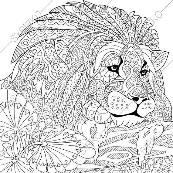 coloring pages lions lion mandala coloring pages at getdrawings free download coloring lions pages