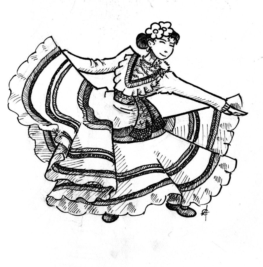 coloring pages mexico mexican girl drawing at getdrawings free download mexico pages coloring 1 1
