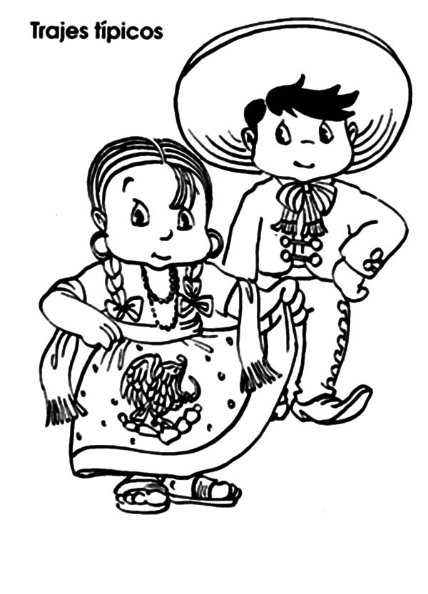 coloring pages mexico mexican native in mexican dress coloring pages color luna coloring pages mexico