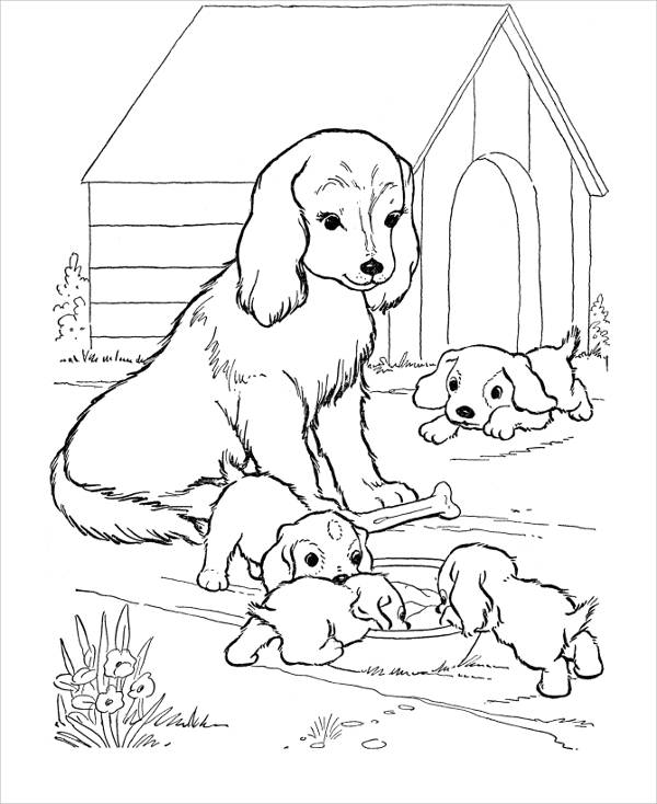 coloring pages of a dog animal coloring pages a pages coloring of dog