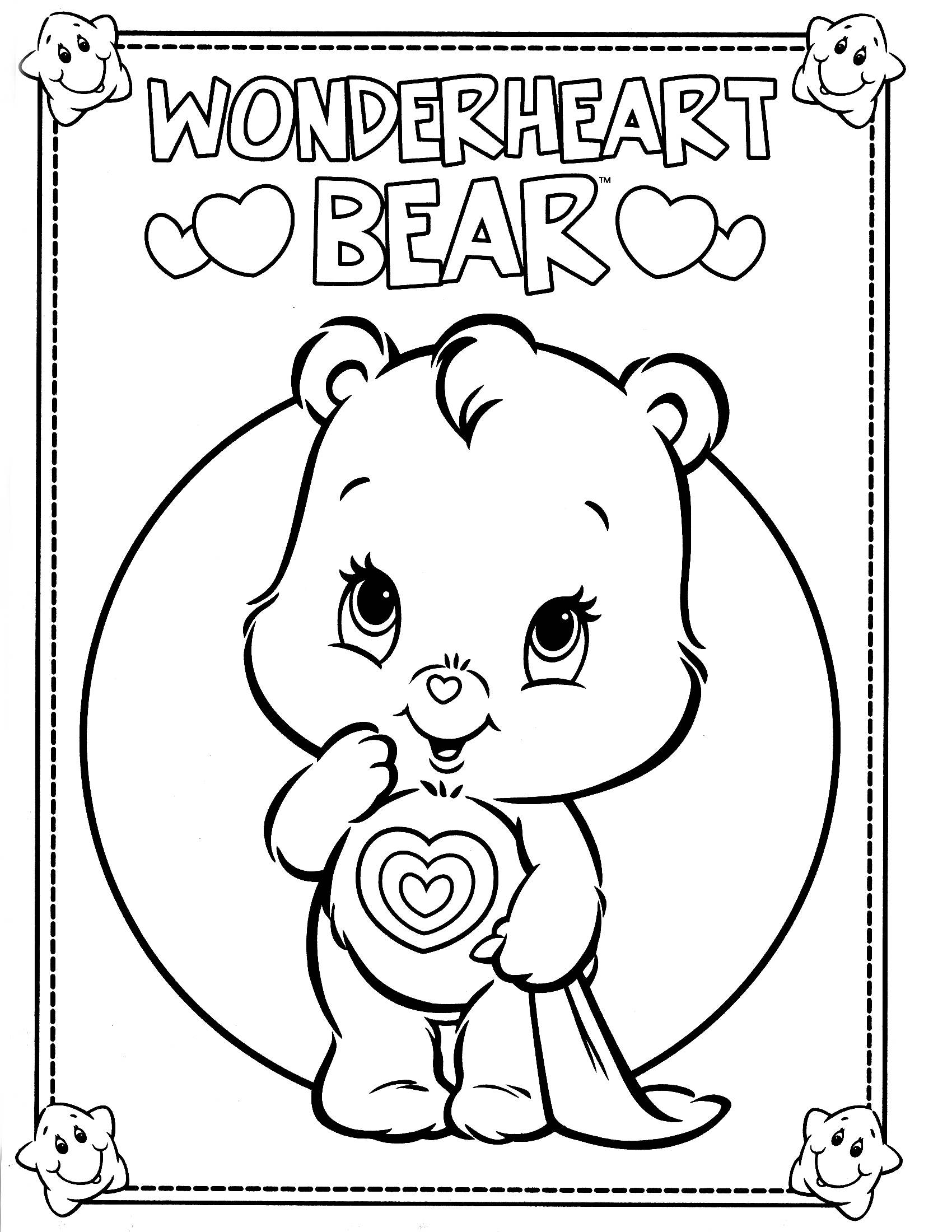 coloring pages of bears to print free printable care bear coloring pages for kids to bears print pages of coloring