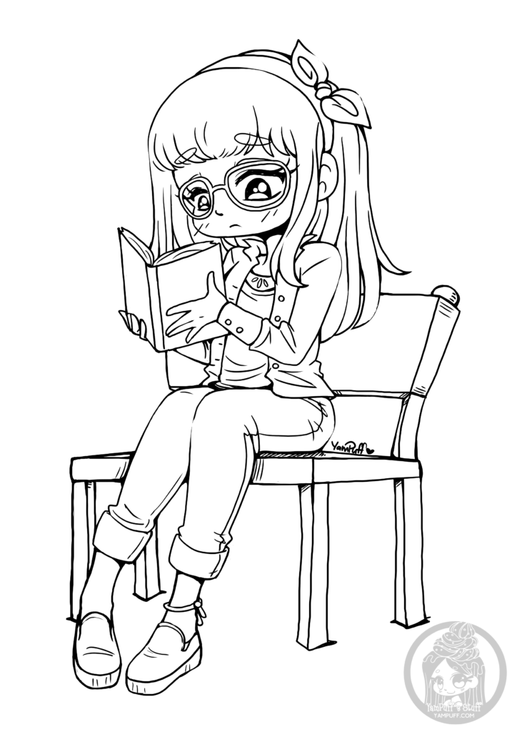 coloring pages of chibi girls chibi coloring pages to download and print for free chibi girls coloring of pages