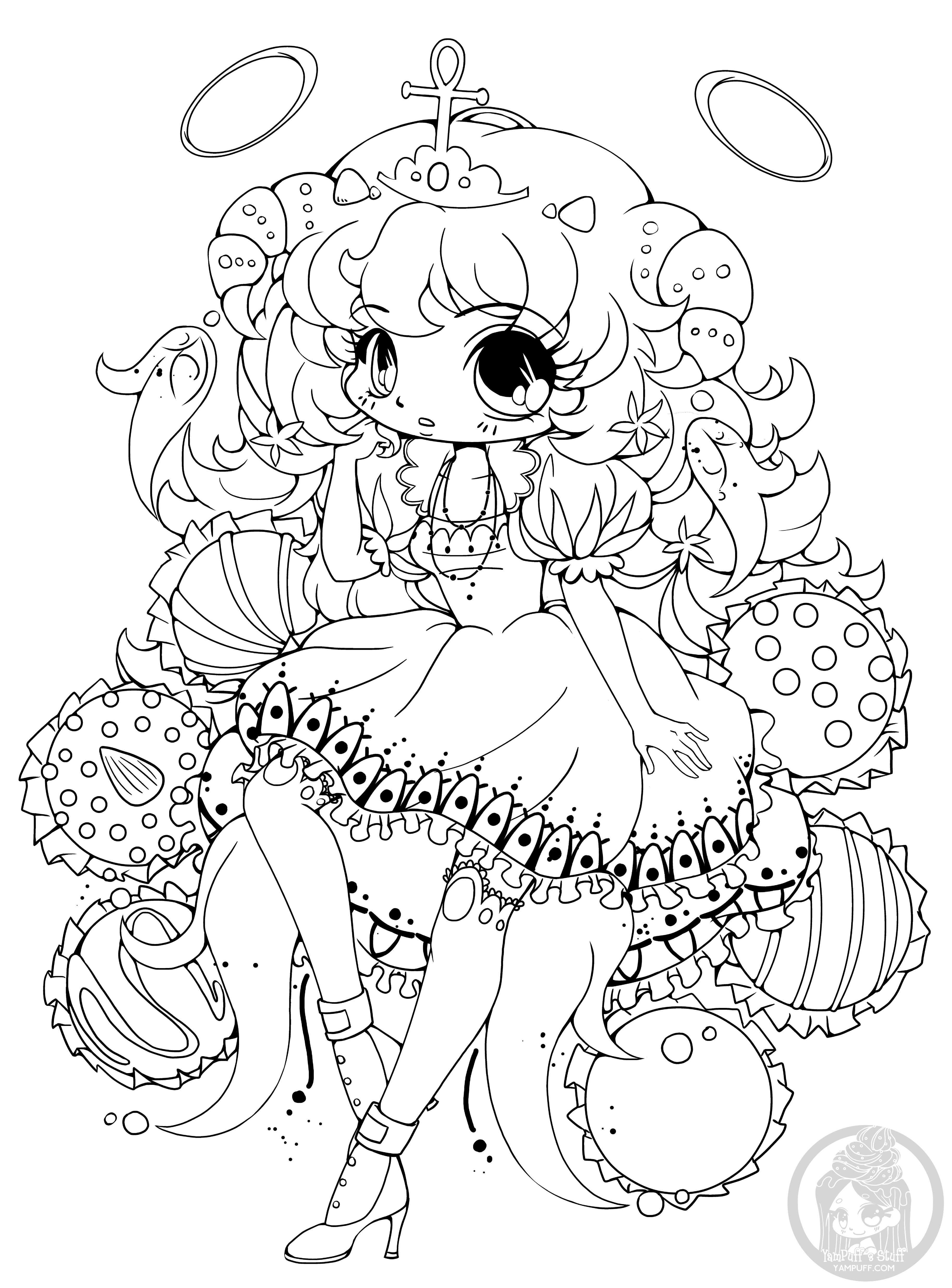 coloring pages of chibi girls chibi coloring pages to download and print for free chibi of girls pages coloring