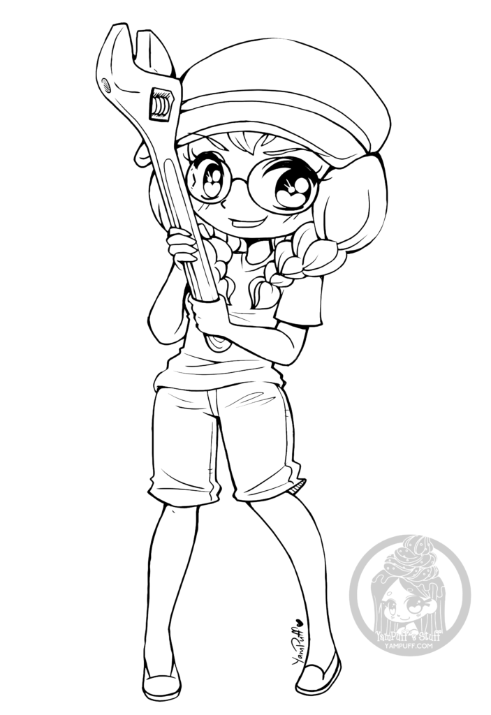 coloring pages of chibi girls chibi coloring pages to download and print for free of pages girls coloring chibi
