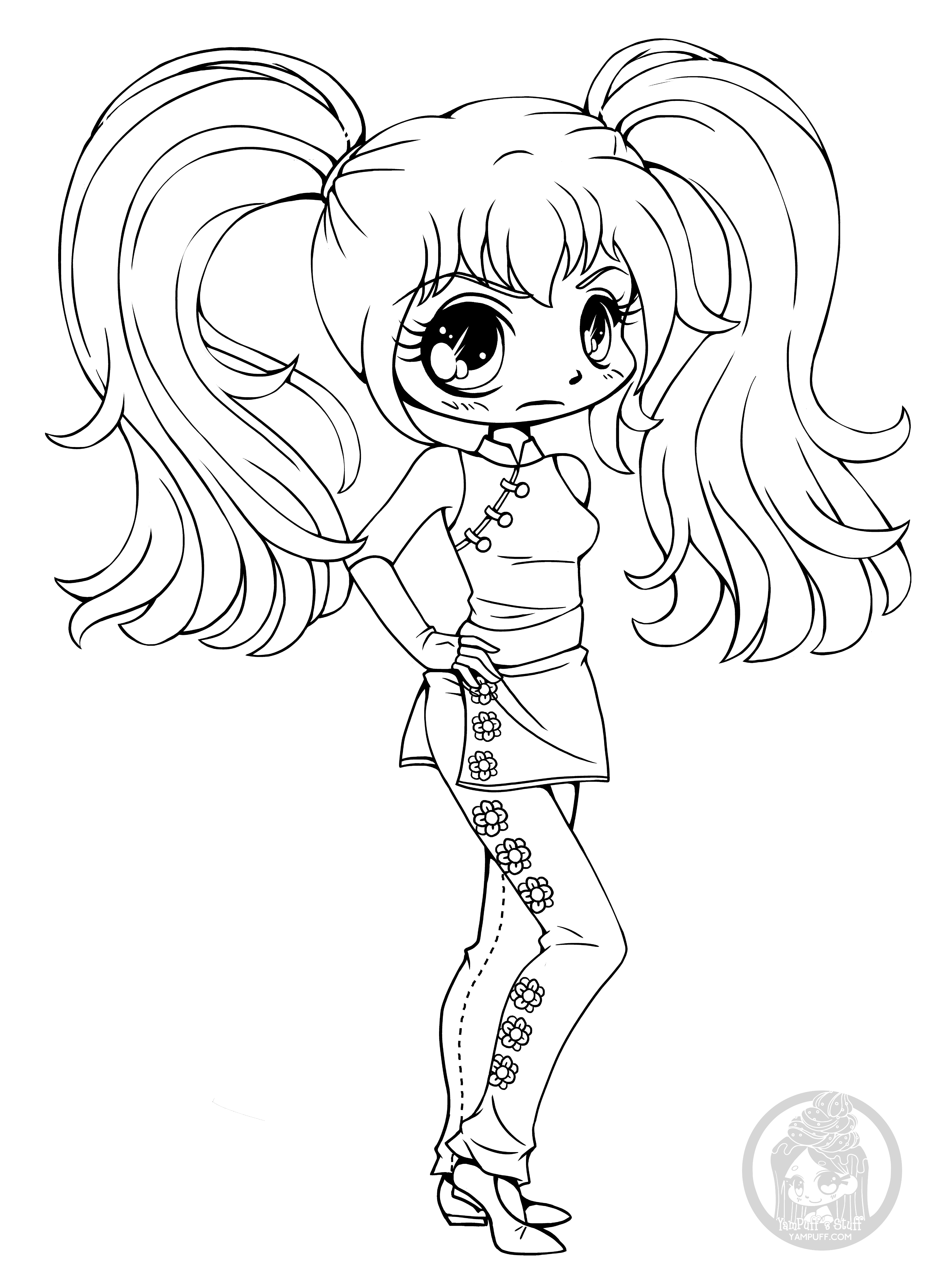 coloring pages of chibi girls chibi supergirl coloring pages coloring pages chibi of girls coloring pages