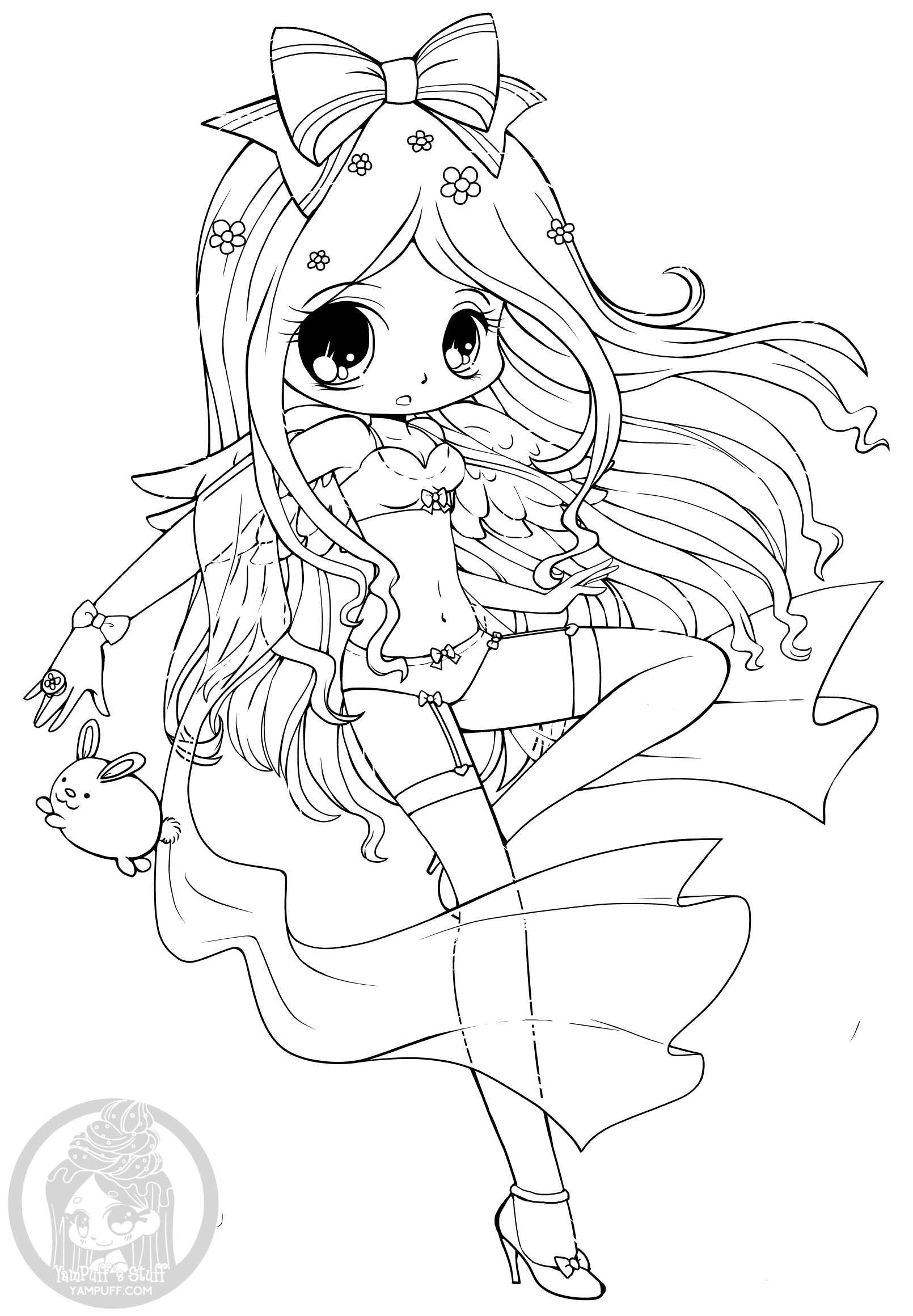 coloring pages of chibi girls chibis free chibi coloring pages yampuff39s stuff chibi coloring of pages girls