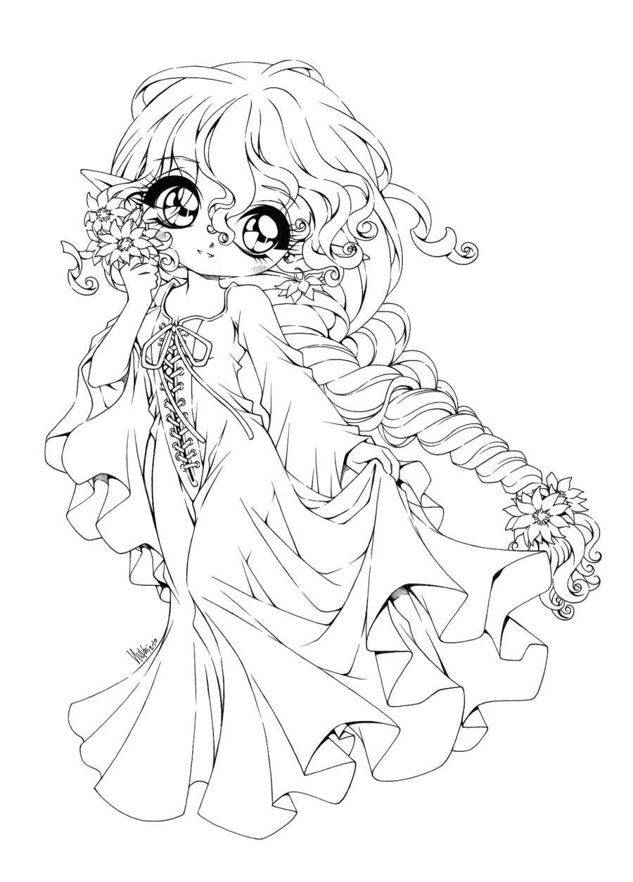 coloring pages of chibi girls chibis free chibi coloring pages yampuff39s stuff girls coloring chibi of pages