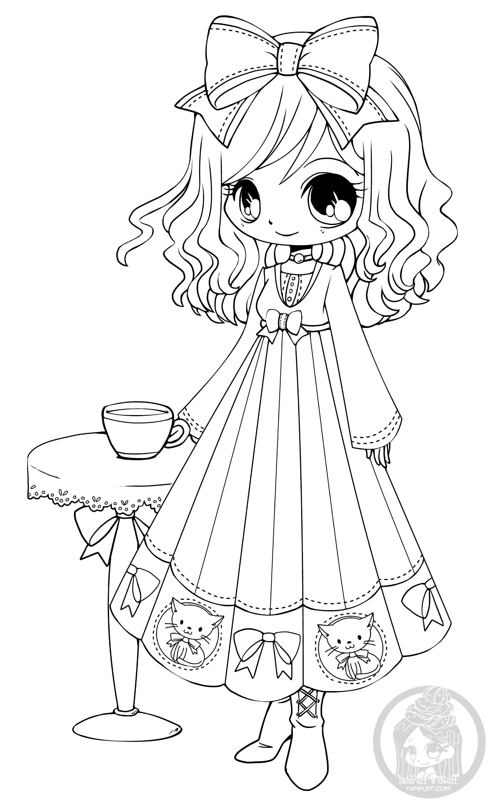 coloring pages of chibi girls chibis free chibi coloring pages yampuff39s stuff girls of chibi coloring pages