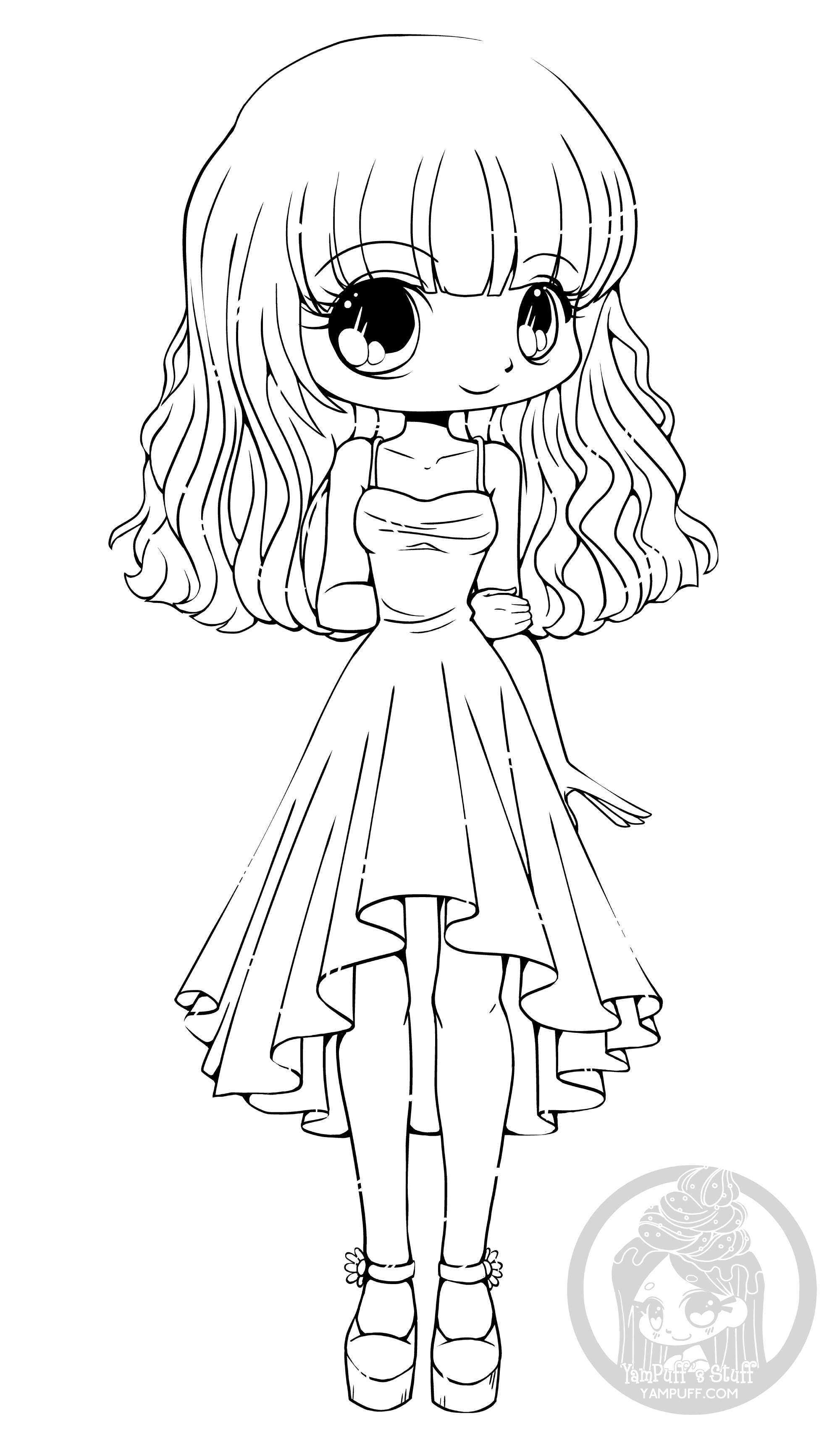 coloring pages of chibi girls cute chibi drawing at getdrawings free download girls coloring chibi of pages