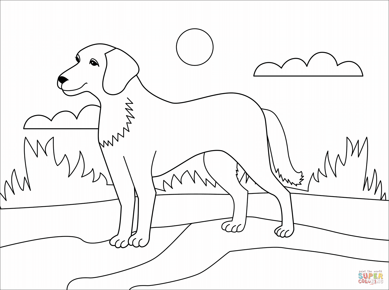 coloring pages of dogs printable 30 free printable cute dog coloring pages scribblefun printable dogs of pages coloring