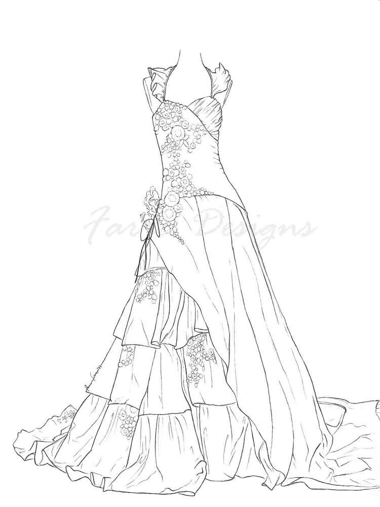 coloring pages of dresses beautiful dress coloring pages and pictures for adults and pages of coloring dresses