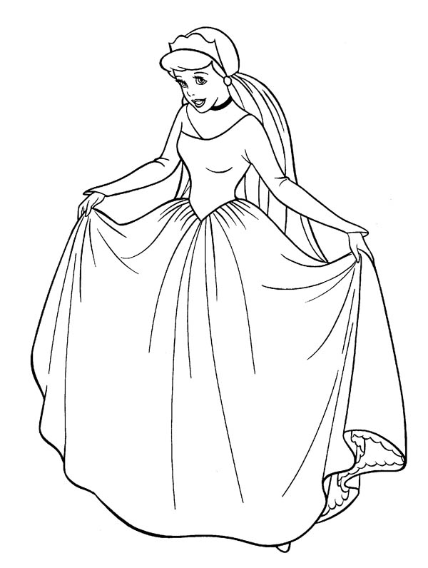 coloring pages of dresses cinderella in her wedding dress in cinderella coloring coloring of pages dresses