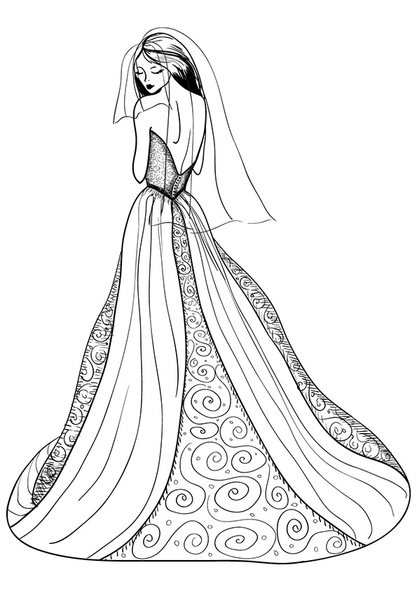 coloring pages of dresses dress coloring pages for girls at getdrawings free download pages dresses coloring of