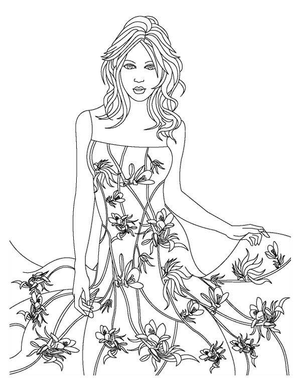 coloring pages of dresses dress coloring pages free printable dress coloring pages dresses coloring pages of