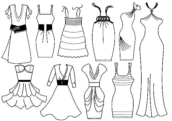 coloring pages of dresses dress coloring pages free printable dress coloring pages dresses pages of coloring